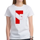 Scuba Flag Letter F Women's T-Shirt