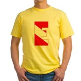 Scuba Flag Letter E Yellow T-Shirt