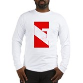 Scuba Flag Letter E Long Sleeve T-Shirt