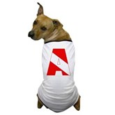 Scuba Flag Letter A Dog T-Shirt