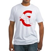 Scuba Flag Euro Sign Fitted T-Shirt