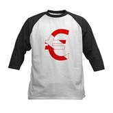 Scuba Flag Euro Sign Kids Baseball Jersey