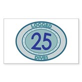 25 Logged Dives Rectangle Sticker