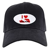 I Love Cattle Boats Black Cap