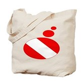 Thought Bubble Dive Flag Tote Bag
