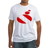 Thought Bubble Dive Flag Fitted T-Shirt