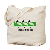Triple Spoon Tote Bag