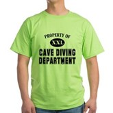 Cave Diving Department Green T-Shirt
