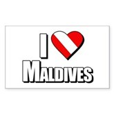 Scuba: I Love Maldives Rectangle Sticker
