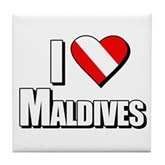 Scuba: I Love Maldives Tile Coaster