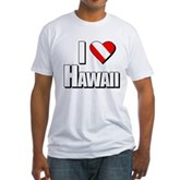 Scuba: I Love Hawaii Fitted T-Shirt