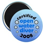 Open Water Diver 2008 Magnet