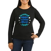 Open Water Diver 2008 Women's Long Sleeve Dark T-S