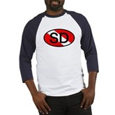 SD Oval Dive Flag Baseball Jersey