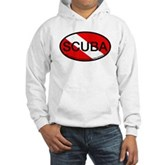 Scuba Oval Dive Flag Hooded Sweatshirt