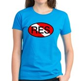 RES Oval Scuba Flag Women's Dark T-Shirt