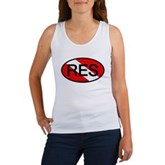 RES Oval Scuba Flag Women's Tank Top