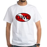 OWD Oval Dive Flag White T-Shirt