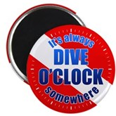 It's Dive O'Clock Somewhere Magnet