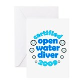Open Water Diver 2009 Greeting Card