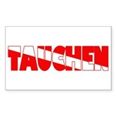 Tauchen German Scuba Flag Rectangle Sticker