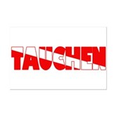 Tauchen German Scuba Flag Mini Poster Print