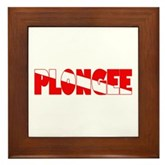 Plongee French Scuba Flag Framed Tile