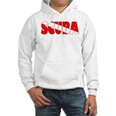 Scuba Text Flag Hooded Sweatshirt