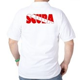 Scuba Text Flag Golf Shirt