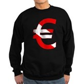 Scuba Flag Euro Sign Sweatshirt (dark)