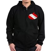 Text Bubble Dive Flag Zip Hoodie (dark)