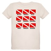 Dive Flags of the World Organic Kids T-Shirt