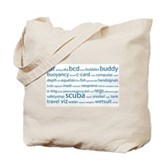SCUBA Tag Cloud Tote Bag