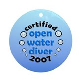 Open Water Diver 2007 Ornament (Round)